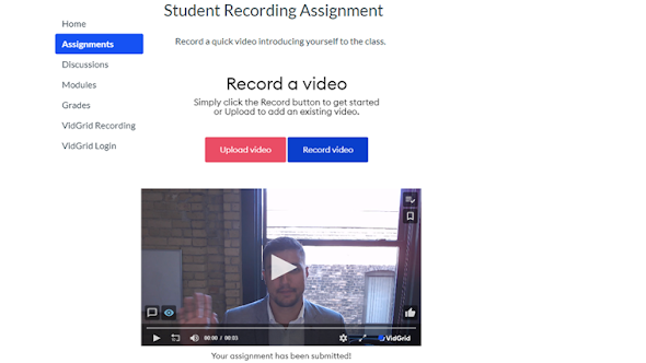 Easy 1-click recording for students